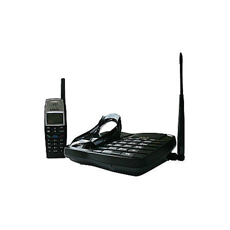EnGenius FreeStyl 1 DECT 5.40 GHz Cordless Phone - Black - 1 x Phone Line - 1 x Handset - Speakerphone - Hearing Aid Compatible - Backlight