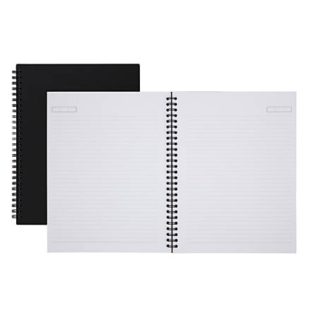 "Office Depot® Brand Wirebound Notebook, Business, 7 1/4"" x 9 1/2"", 160 Pages (80 Sheets), Black"