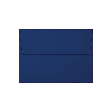 """LUX Invitation Envelopes With Peel & Press Closure, A7, 5 1/4"""" x 7 1/4"""", Gold/Navy, Pack Of 1,000"""
