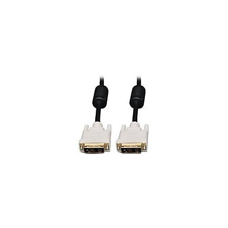 Ergotron 10-ft. DVI Dual-Link Monitor Cable - 10 ft DVI Video Cable for Video Device, Monitor - First End: 1 x DVI-D (Dual-Link) Male Digital Video - Second End: 1 x DVI-D (Dual-Link) Male Digital Video - Shielding - Gold Plated Contact - Black, White