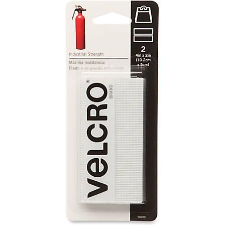 "VELCRO® Brand VELCRO Brand Heavy-duty Hook Fasteners - 2"" Width x 4"" Length - Self-adhesive - 2 / Pack - White"