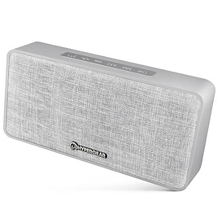 HyperGear Fabrix Wireless Speaker, Gray, 14297