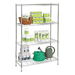 Realspace Wire Shelving 4 Shelves 72