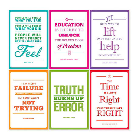 Scholastic Teacher's Friend Inspirational African-American Quotes Bulletin Board Set, Grade 3 - 6