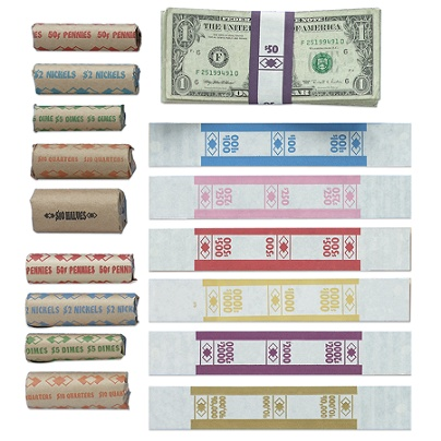PM™ Company Currency Bands, $50 00, Orange, Pack Of 1,000 Item # 333674