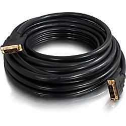 C2G 6ft Pro Series DVI-D CL2 M/M Single Link Digital Video Cable - 6 ft DVI Video Cable - First End: 1 x 24-pin DVI-D (Single-Link) Male Digital Video - Second End: 1 x 24-pin DVI-D (Single-Link) Male Digital Video - Shielding - Black
