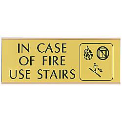 Acrylic Engraved Sign With Metal Wraparound
