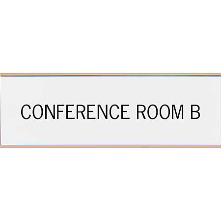 """Acrylic Engraved Sign With Metal Wraparound Holder, 3"""" x 10"""""""