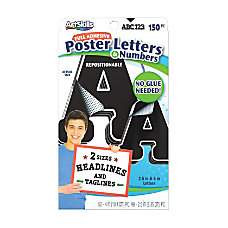 Artskills Repositionable Letters Black Pack Of