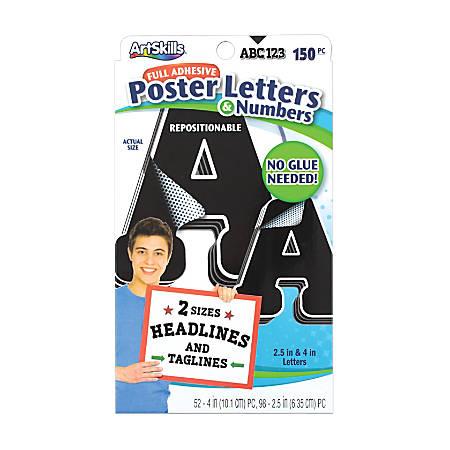 Artskills® Repositionable Letters, Black, Pack Of 150