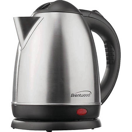 Brentwood 1.5 Liter Stainless Steel Tea Kettle - 1000 W - 1.59 quart - Brushed Stainless Steel