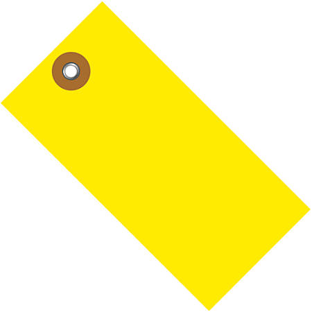 "Office Depot® Brand Tyvek® Shipping Tags, 4 1/4"" x 2 1/8"", Yellow, Case Of 100"