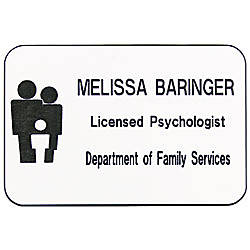 Plastic Eng Name Badge 2x3