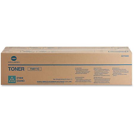 Konica Minolta TN-611C Original Toner Cartridge - Laser - 27000 Pages - Cyan - 1 Each
