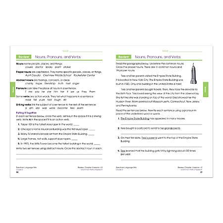Carson-Dellosa Spectrum Language Arts Workbook, Grade 3