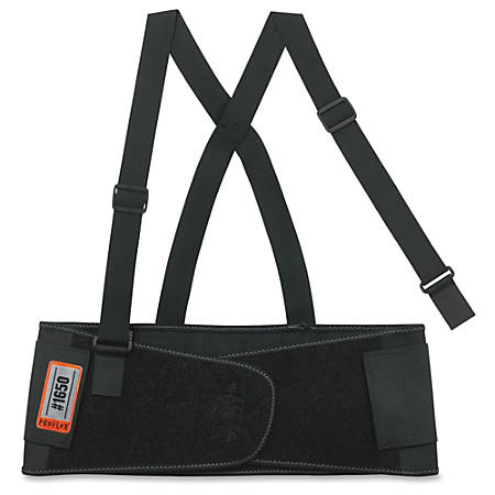 "ProFlex Economy Elastic Back Support - Adjustable, Strechable, Comfortable - 58"" Adjustment - Strap Mount - 7.5"" - Black"