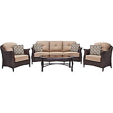 Hanover Gramercy 4 Piece Seating Set