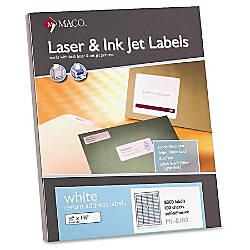 MACO White LaserInk Jet Return Address