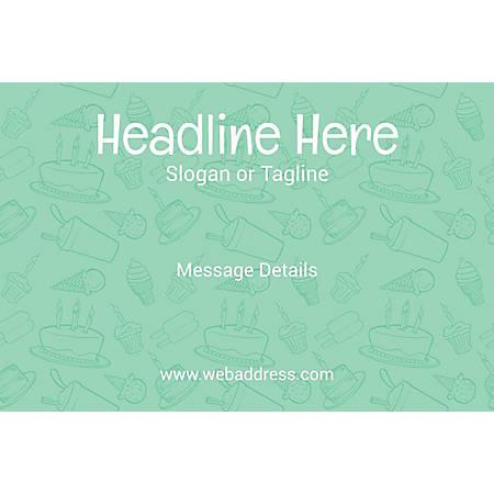 Adhesive Sign, Birthday Eatables, Horizontal