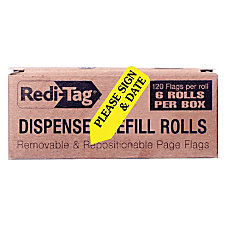 Redi Tag Preprinted Signature Flags Refill