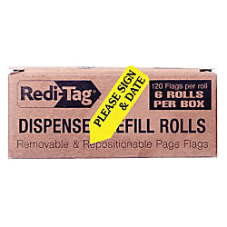 Redi Tag Preprinted Signature Flags Refill
