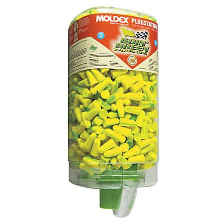 PlugStation Earplug Dispensers, Foam, Uncorded, Bright Green