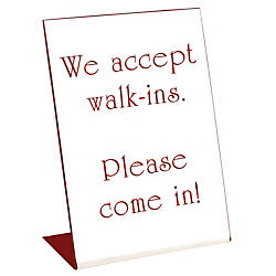 Acrylic Engraved L Shaped Sign Pedestal