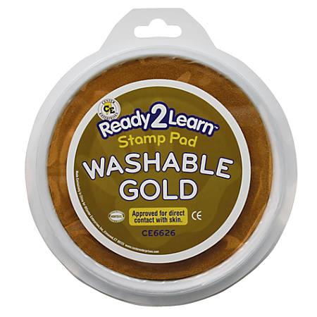 Center Enterprises Jumbo Washable Stamp Pads, 1 Oz, Gold, Pack Of 6