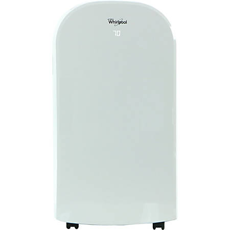 """Whirlpool Dual-Exhaust Portable Air Conditioner With Remote, 12,000 BTU, 30 5/16""""H x 17 15/16""""W x 15 5/8""""D, White"""