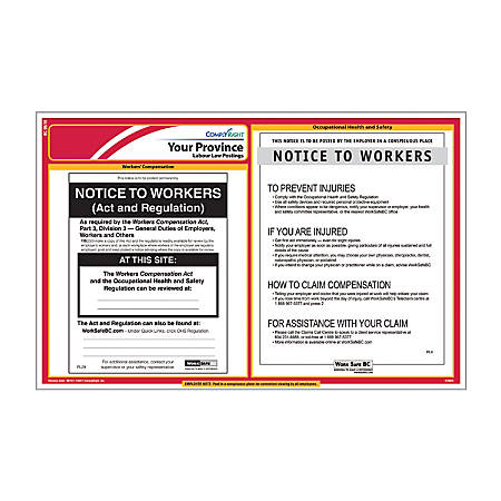 ComplyRight Canada Federal And Province Poster Subscription Service, English, Alberta