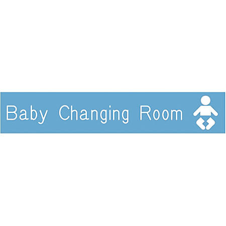 """Acrylic Engraved Wall Sign, 1 1/2"""" x 8"""""""