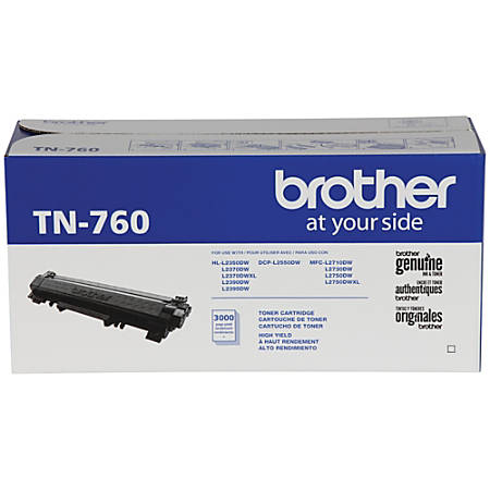Brother® Black Toner Cartridge, High-Yield, TN760