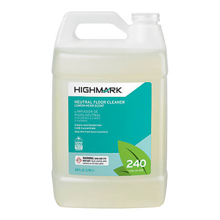 Highmark® Neutral Floor Cleaner, Citrus Herb Scent, 128 Oz