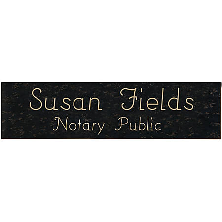 """Acrylic Engraved Wall Sign, 3"""" x 12"""""""