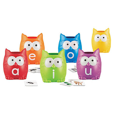 Learning Resources Vowel Owls Sorting Set - Skill Learning: Vowels, Sorting, Word