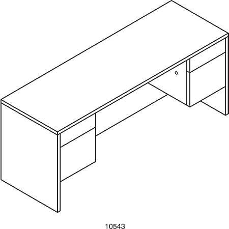HON® 10500 Series™ Kneespace Credenza, Mahogany