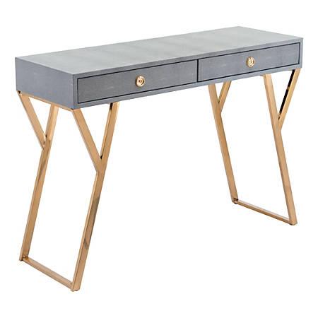 Zuo Modern Asti Console Table, Rectangular, Gray/Gold