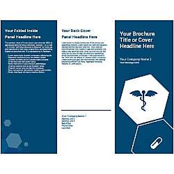 Customizable Trifold Brochure Blue Medical