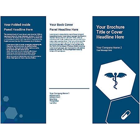 Customizable Trifold Brochure, Blue Medical