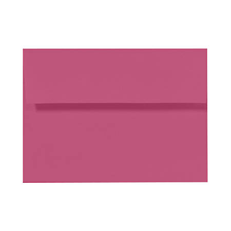 "LUX Invitation Envelopes With Peel & Press Closure, A6, 4 3/4"" x 6 1/2"", Magenta, Pack Of 50"