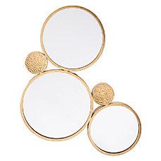 Zuo Modern Tri Circular Mirror Gold