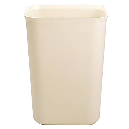 Rubbermaid® Fire-Resistant Wastebasket, 7 Gallons, Beige