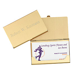 Brass business card holder personalized 2 14 w x 3 58 h by office brass business card holder personalized 2 14w x 3 5 colourmoves