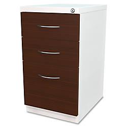 Elegant White Rolling File Cabinet