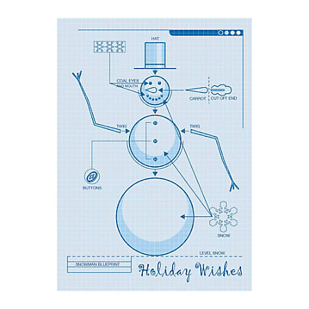 Snowman blueprint sample by office depot officemax snowman blueprint sample malvernweather Choice Image