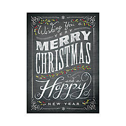 Personalized Holiday Cards With Envelopes Chalkboard