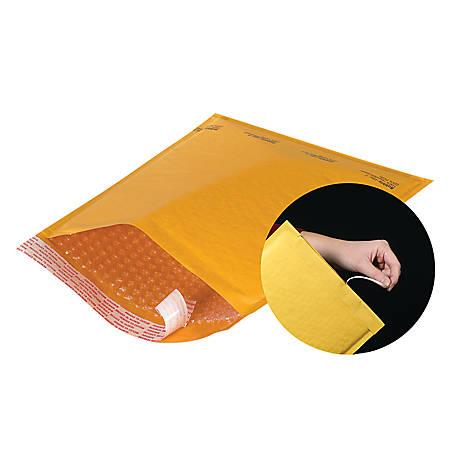 """Office Depot® Brand Kraft EZ Open Tear-Tab Bubble Mailers, #3, 8 1/2"""" x 14"""", Pack Of 25"""