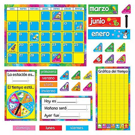 TREND Calendario Anual Spanish Bulletin Board Set, Multicolor, Pre-K - Grade 8