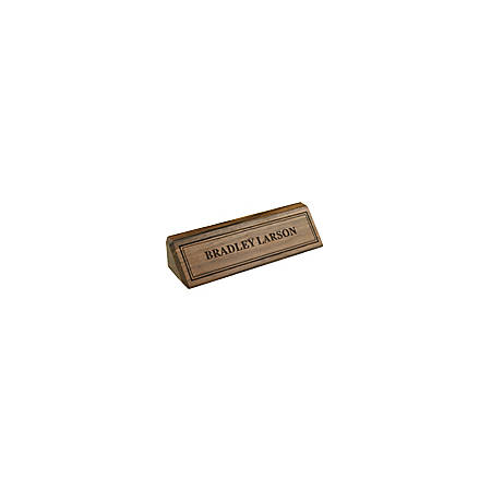 """Engraved Desk Sign, Walnut Sign With Laser Engraved Letters And Borders, 1 3/4"""" x 10 1/2"""""""