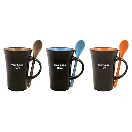 Mug And Spoon Combo, 10 Oz